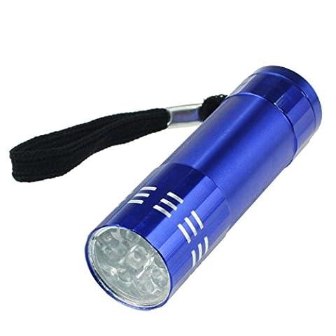 Taschenlampe,WINWINTOM Neun kleine Licht-LED wasserdichte Taschenlampe Licht-Lampe (Blau)