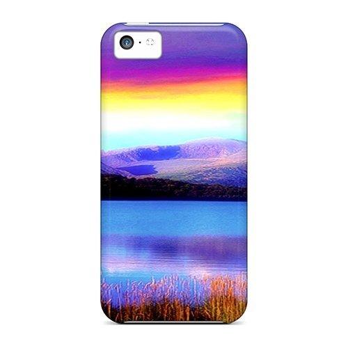 meilz aiaiDefender Coque pour Iphone 5c Motif arc-en-ciel Colorés Patternmeilz aiai