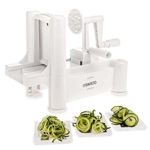 Savisto Kitchen Vegetable/Fruit Spiralizer with Interchangeable Blades [SV-KITC-Z054] Zucchini-spaghetti-maker Mandoline