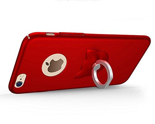 LaoZan Slim Federleicht iPhone Hülle Cover Schutz Tasche Schale Hard Case Mit Ring Ständer Rot