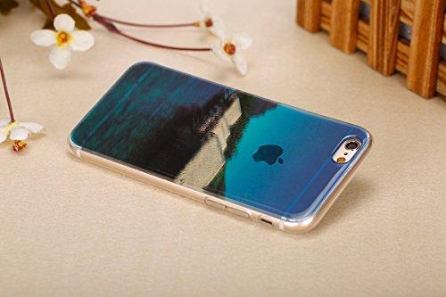 Felfy pour iPhone 6 Plus Silicone Case,iPhone 6S Plus Coque Coque Souple Transparente TPU Silicone en Gel Case Premium Ultra-Light Ultra-Mince Skin de Protection Pare-Chocs Anti-Choc Bumper pour Apple étage