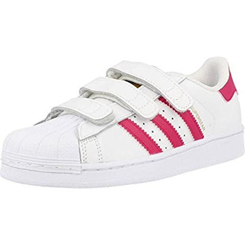 adidas Superstar Foundation Enfant Blanc Rose Blanc 31½