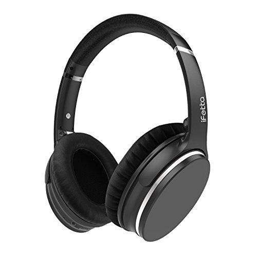 Ifecco Bluetooth V4,1 Kopfhörer ANC Over-Ear-Kopfhörer mit Geräuschminimierung und Mikrofon für Ios, Andorid handys, Tablets, tragbare Musik-Player, Laptop, PC