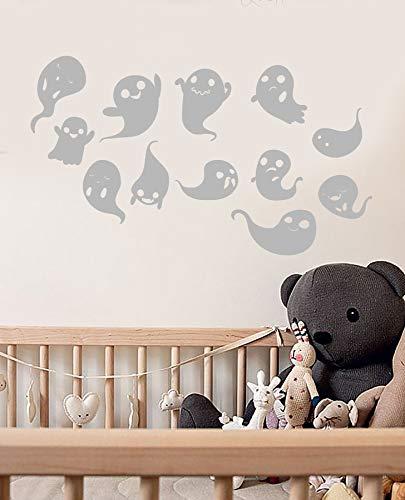 Vinyl Wandtattoo Cartoon Ghost Spook Halloween Decor Aufkleber Home Wohnzimmer Fenster Aufkleber 57 * 98 cm (Halloween Cartoon Ghost)