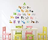 #7: Amazon Brand - Solimo Wall Sticker for Kid's Room (Play & Learn, Ideal Size on Wall - 140 cm x 100 cm)