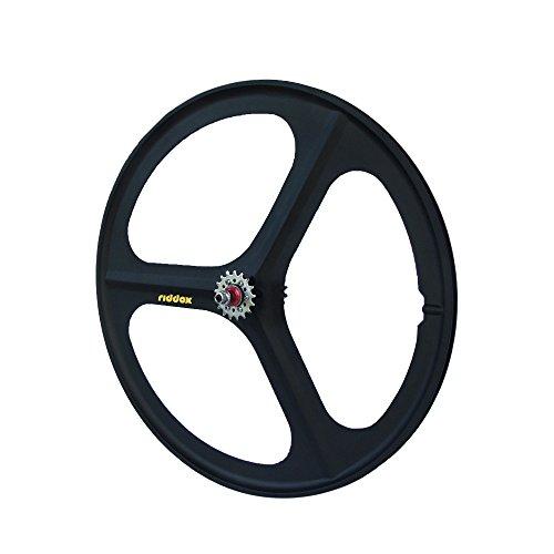 RIDDOX Laufradsatz Singlespeed Fixie 700C/28 Hinterrad mit Freilaufritzel - Leichtmetall - Schwarz Matt