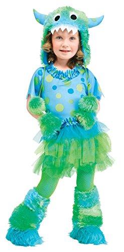 Monster Süßes Kostüm - Süßes Mädchen Kuschel-Monster Kostüm Größe 86/92