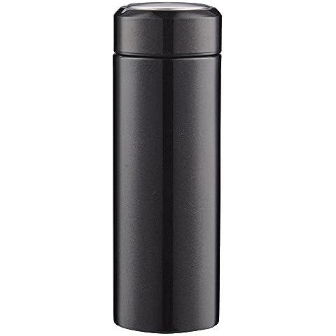 Vuoto in acciaio inox satinato tazza creativa uomini e donne d'affari Coppa acqua tazza,Nero,350ml