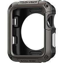 Funda Apple Watch 2 42mm, Spigen® [Tough Armor] Anti-Shock [Gunmetal] Extreme protección de servicio pesado y construido en el protector de pantalla para Apple Watch Series 2 42mm 2016 - (048CS21060)