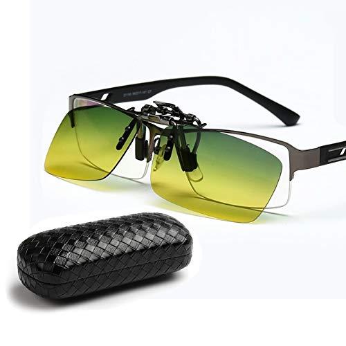 Unbekannt Polarisierte Sonnenbrille Mit Clipverschluss Unisex: Hochklappbare Korrekturbrille Für Den Angelsport - Ultraleicht