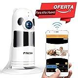 HD 1080P FREDI Cámara Panorámica/WiFi Cámara IP/Cámara Vigilancia/Cámara Seguridad y Inalámbrica/Vigilabebes Baby Monitor IR Visión Nocturna/2-way Tal
