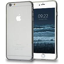 MyGadget Coque Silicone TPU pour Apple iPhone 6 Plus / 6s Plus Capuchon anti-poussière - Housse Haute protection Case anti choc et rayures - Transparent