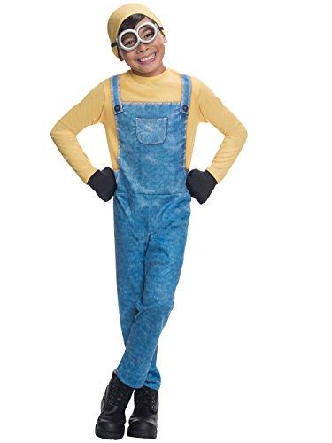 Generique - Bob-Minions Kinderkostüm Lienz-Verkleidung gelb-blau 116 (5-6 ()