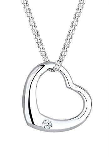 Diamore-Damen-Kette-mit-Anhnger-Herz-Rosgold-925-Silber