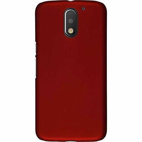 WOW Imagine™ Rubberised Matte Hard Case Back Cover For Motorola Moto E 3rd Generation Power ( E3 Power ) - Maroon Wine Red  available at amazon for Rs.165