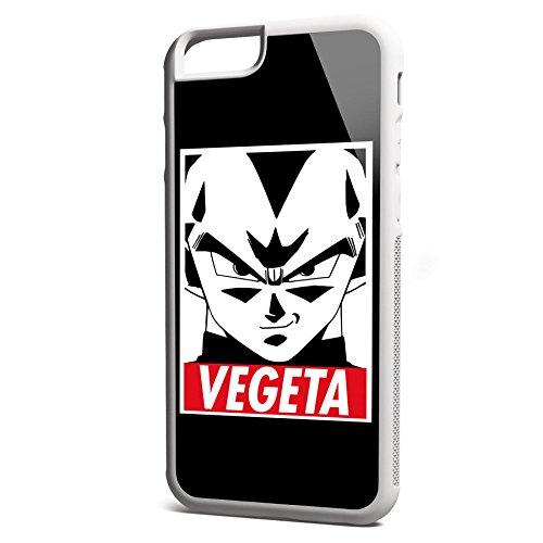 Smartcover Case Vegeta z.B. für Iphone 5 / 5S, Iphone 6 / 6S, Samsung S6 und S6 EDGE mit griffigem Gummirand und coolem Print, Smartphone Hülle:Iphone 6 / 6S schwarz Iphone 6 / 6S weiss