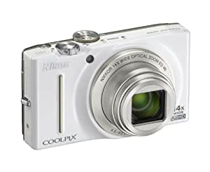 Nikon COOLPIX S8200 Compact Digital Camera - White (16.1MP, 14x Optical Zoom) 3 inch LCD