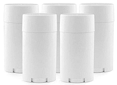 Hustar 15ml Flacon Vide Contenant Cosmétiques Tube en Plastique pour Déodorant Baume à Lèvres Brillant à Lèvres avec Couvercle Blanc 5 Pièces