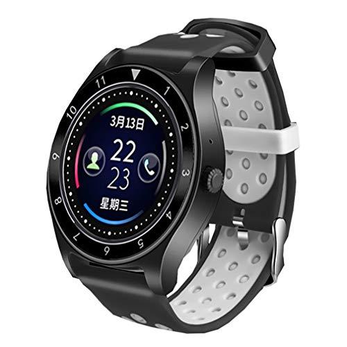 d Smart Watch Android für männer Frauen smartwatch Kamera SIM Karte Armbanduhr schrittzähler tragbare geräte sportuhren für ios an, grau ()