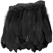 Pluma Decoración para Trajes Ropa Franja Accesorios Hermosos para Bricolaje Costura Varios Colores - negro