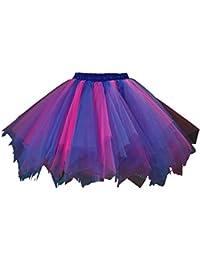 Honeystore Womens Short Vintage Ballet Bubble Puffy Tutu Petticoat Skirt