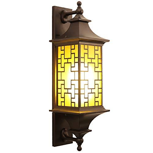 TAOUN Moderne LED Wandleuchte Neue Chinesische Outdoor Kreative Balkon Villa Tür Korridor Licht Outdoor Einfache Gang Hof wasserdichte Wandleuchte Wärme, Romantik (Kaffee Gold)