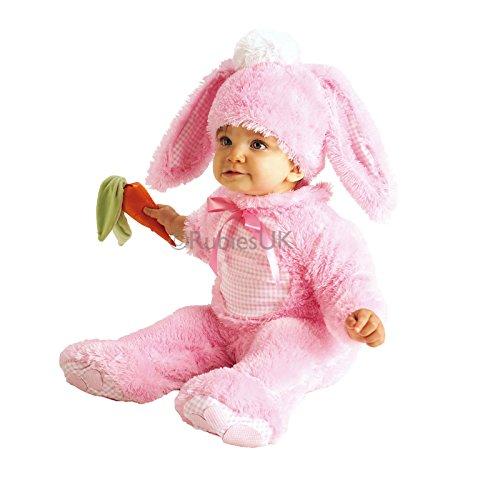 Baby Kinder Hasen Kostüm - 0-6 Monate, Pink (Baby Monate Halloween-kostüme 4)