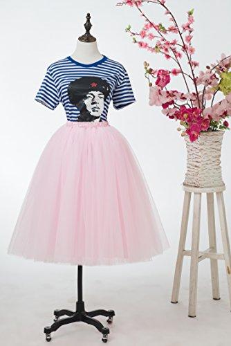 Honeystore Damen's Lang Ballet Petticoat Abschlussball Party Zubehör Tutu Unterkleid Rock Rosa