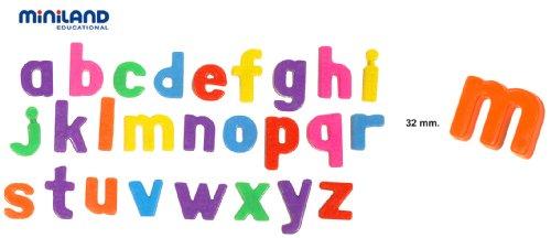 Imagen 2 de Miniland - Letras magnéticas minúsculas, 64 piezas (97926)