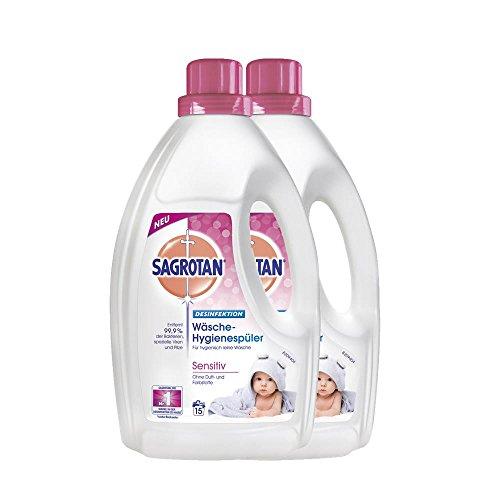 Sagrotan Wäsche-Hygienespüler Sensitiv (2er Pack) Geeignet für Babykleidung 1,5L