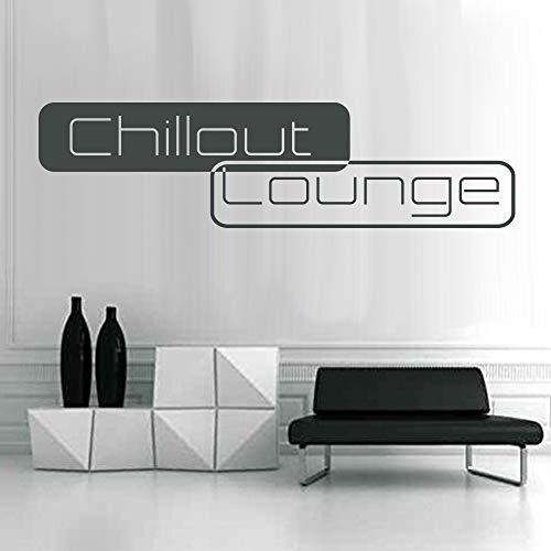 denoda Chillout Lounge - Wandtattoo Dunkelgrau 95 x 25 cm (Wandsticker Wanddekoration Wohndeko...