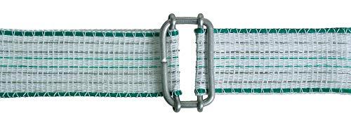 AKO Weidezaunband Verbinder, Breitbandverbinder 20mm - Edelstahl, 10 Stk. - Einfache Verbindung von Weidezaunband - Reparieren von gerissenem Band