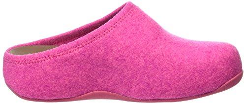 FitFlop Shuv Felt, Zoccoli Donna Rosa (Pink (Bubblegum))