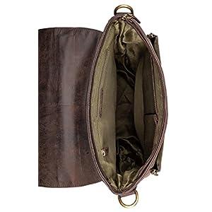 41DpDpF91tL. SS300  - LEABAGS Riverdale Bolso Bandolera de Cuero auténtico de búfalo en el Estilo Vintage