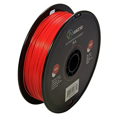 1.75mm Red PLA 3D Printer Filament - 1kg Spool (2.2 lbs) - Dimensional Accuracy +/- 0.03mm