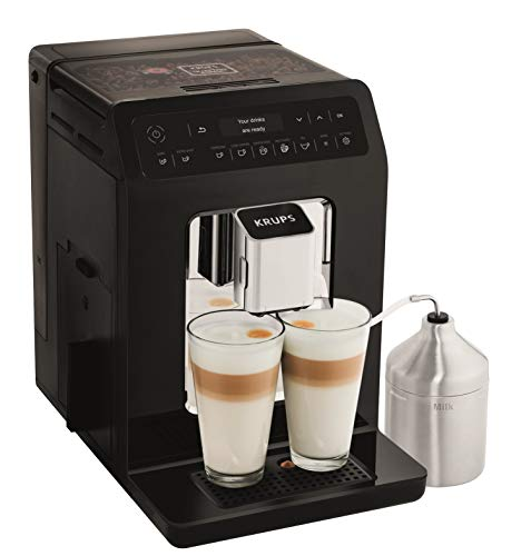 Krups Evidence Espresso EA891810 - Cafetera Superautomática 15 Bares, 15 Preajustes, Niveles de Intensidad, Molido...