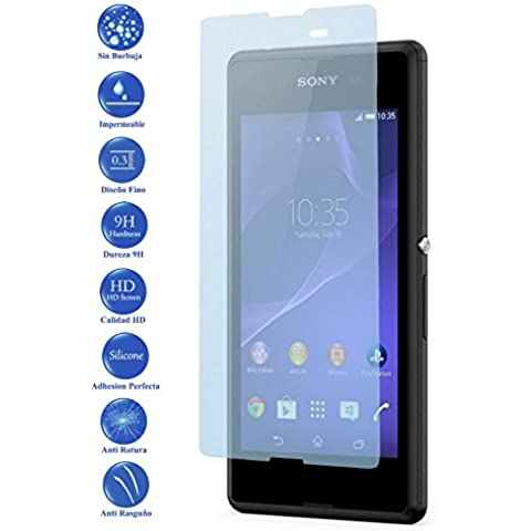 Ilovemyphone - Protector de Pantalla Cristal Templado para Sony Xperia E3, D2202, D2203