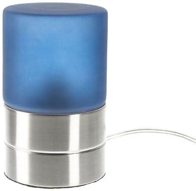 Trio-Leuchten 5908011-12 Tischleuchte in Nickel matt, Touch-Me-Funktion(4-fach schaltbar, 3 Helligkeitsstufen), Glas alabasterfarbig blau, exklusive 1xE14 max. 40W, Höhe 15 cm von Trio Leuchten - Lampenhans.de