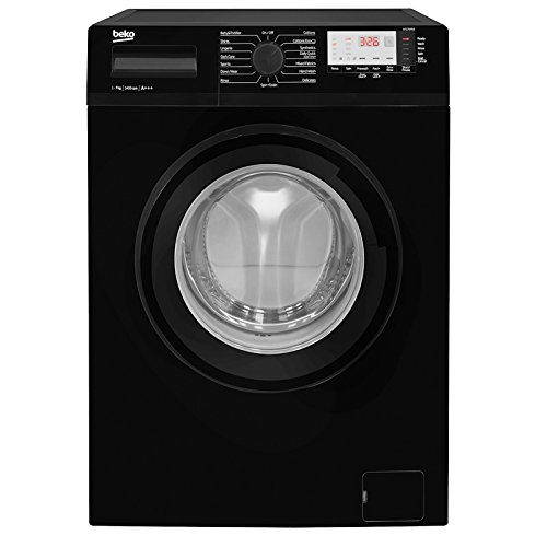 Beko WTG741M1B A+++ Rated 7kg 1400 Spin 15 Programmes Washing Machine in Black Best Price and Cheapest