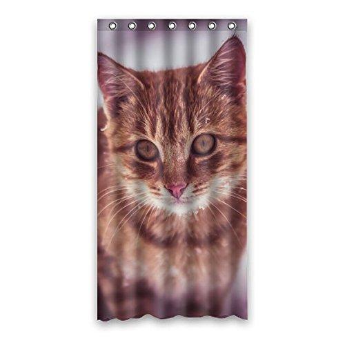 """90 cm x183 cm (36 """"x72"""") Bagno Doccia Tenda, gatto sveglio Custom Design ecologico Shower Curtain impermeabile Bagno"""