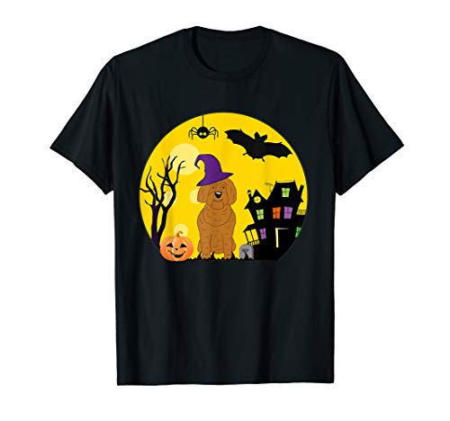Kostüm Spooky - Labradoodle Hunde-Halloween-Kostüm Spooky Vollmond T-Shirt