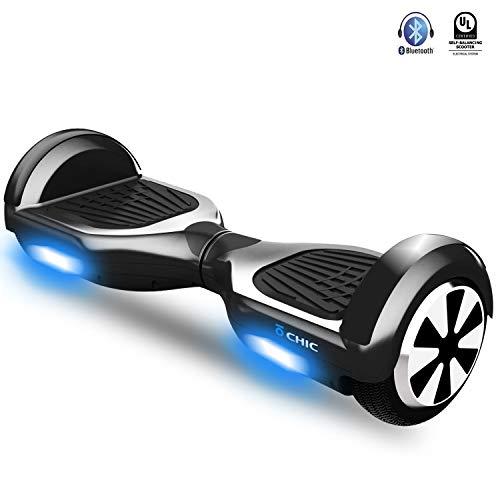 IOCHIC M120 Hoverboard UL-2272 Zertifiziert. Selbstausgleich Roller mit Bluetooth-Lautsprecher, bürstenlosen Doppelmotoren und Intelligenz-Sicherheitssystem für Kinder und Jugendliche
