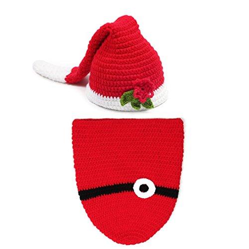 Gute Drei Kostüme Für (EEOZY Fotografie Prop Baby-Kostüm Weihnachten Stricken Handarbeit Neugeborene Kostüm)