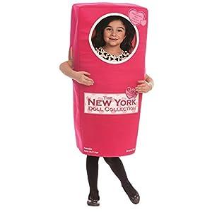 Dress up America - Disfraz de Caja de muñecas Nueva York para niños, Color Rosa, Talla S, 4-6 años (825-S)