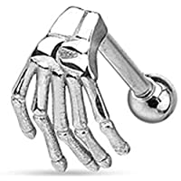 WildKlass Jewelry Adult Skeleton Hand Top Eyebrow/ Barbell