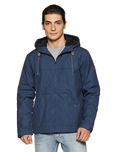 Quiksilver Herren Wanna Jacken, Blau (Dark Denim Brq0), Medium - Quiksilver Blue Denim
