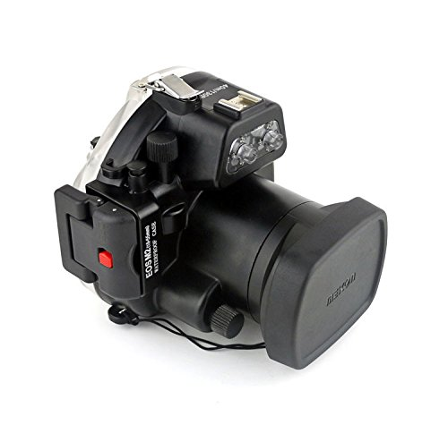 ted Waterproof Underwater Housing Case for The Canon EOS M II Camera with a 18-55mm Lens ()