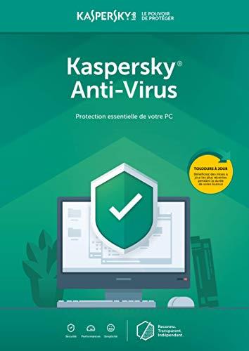 Kaspersky Anti-Virus | 1 Appareil | 1 An | PC | Code d'activation - envoi par email