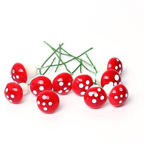 Dosige Simulation Champignon Rouge Décoration Ornement Miniature De Pot De  Fleurs Décorations Pour Micro Paysages