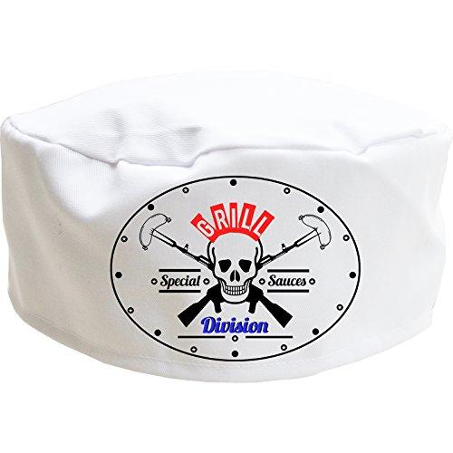 Grill Division Chef Hat Skull Cap, Fun Neuheit Geschenk für Männer, Frauen und Kinder, weiß, Child -